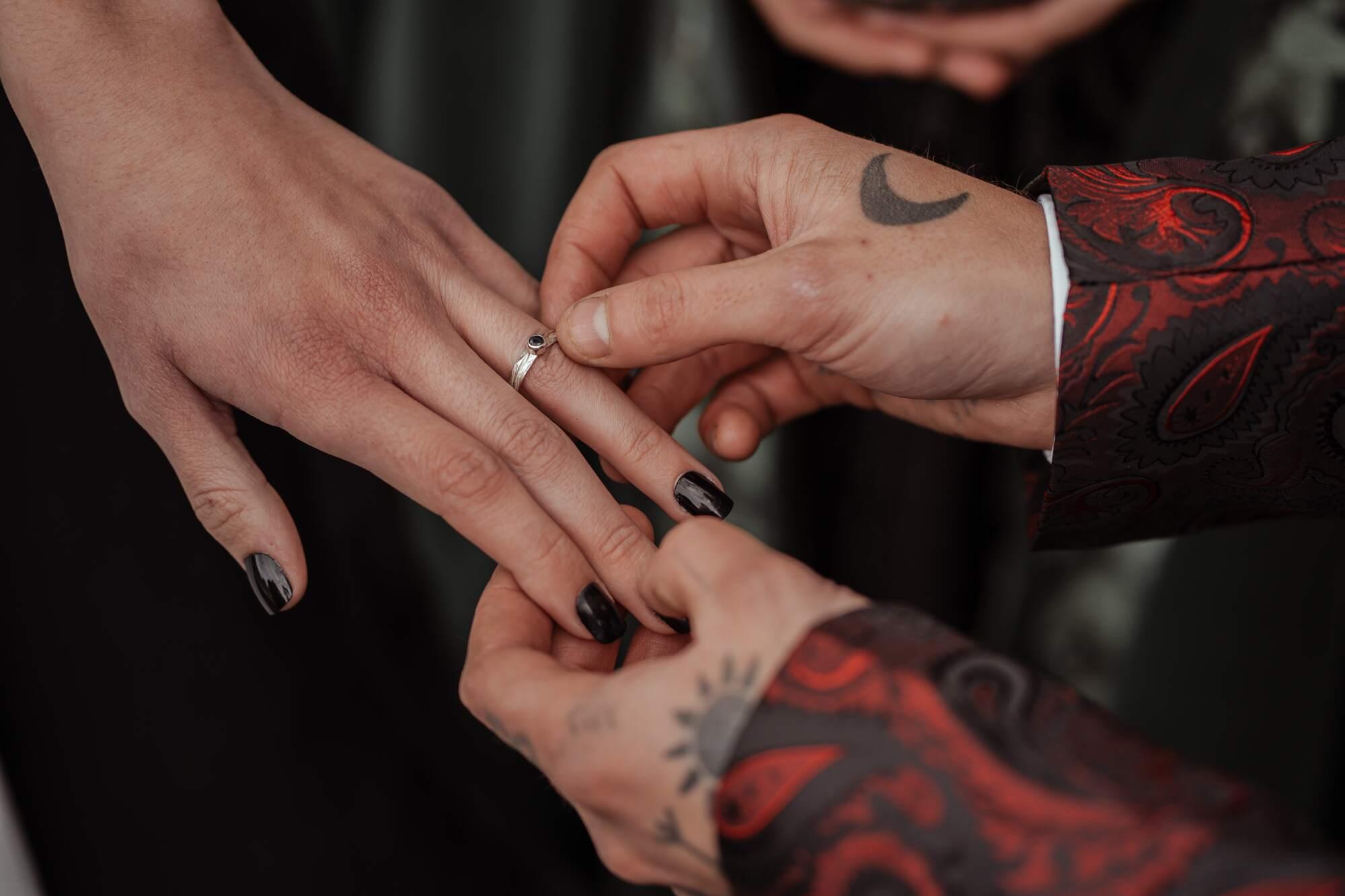 gothic wedding rings