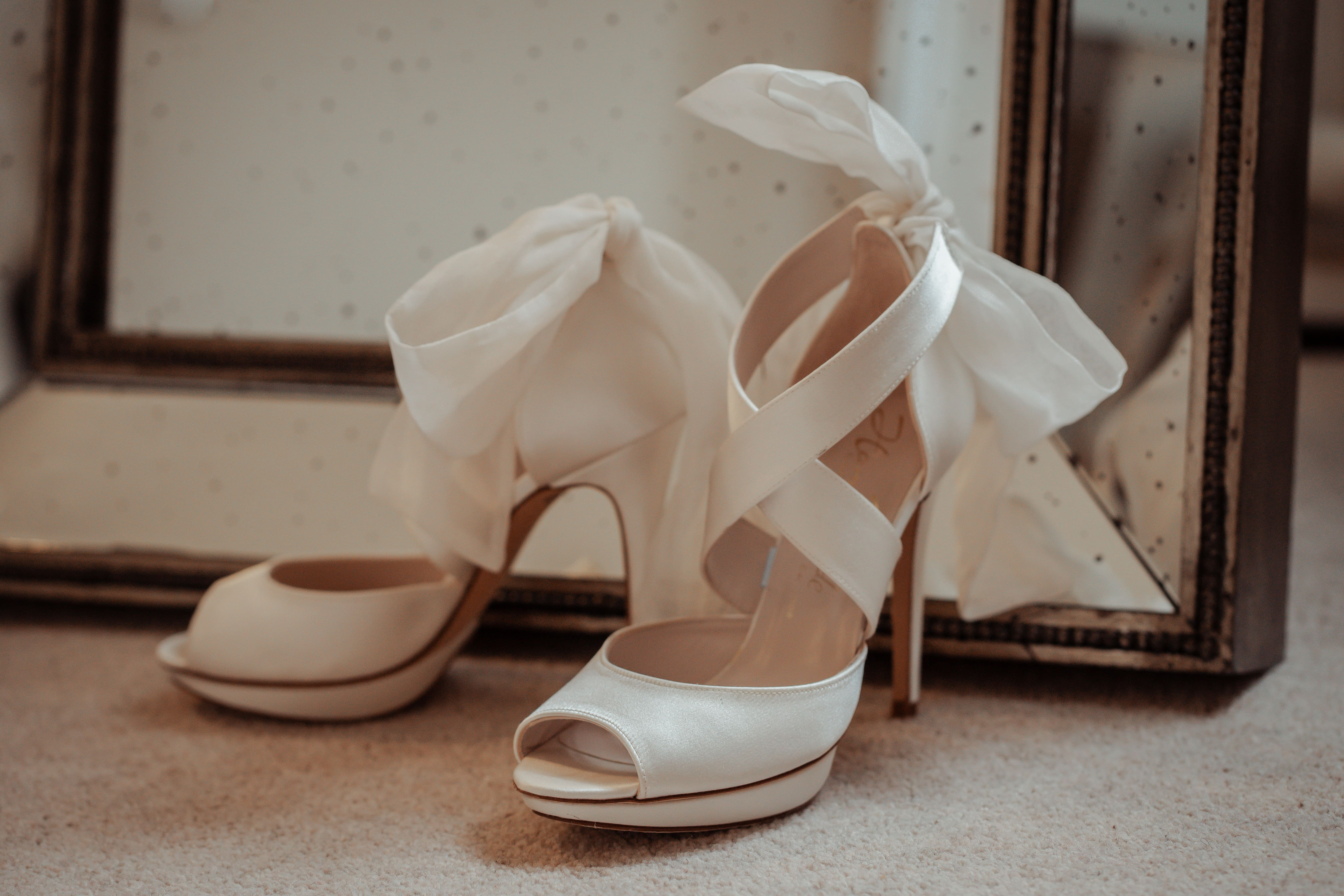 Bridal shoes by Harriet Wilde