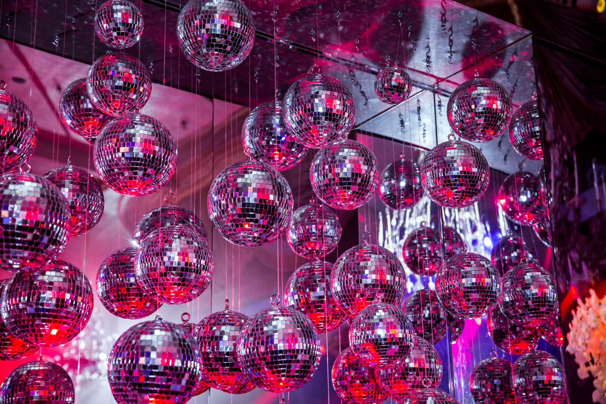 Discoballs custom back bar installation.