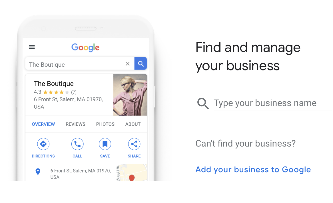 Enter google my business name