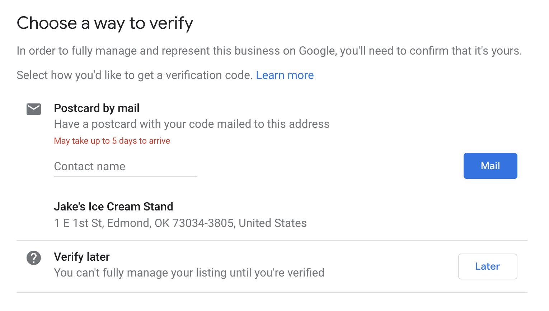 verify business form