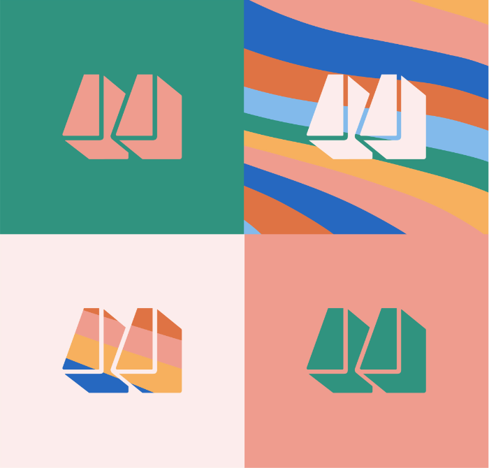 Colourful logos for the Some Would Say Branding project.