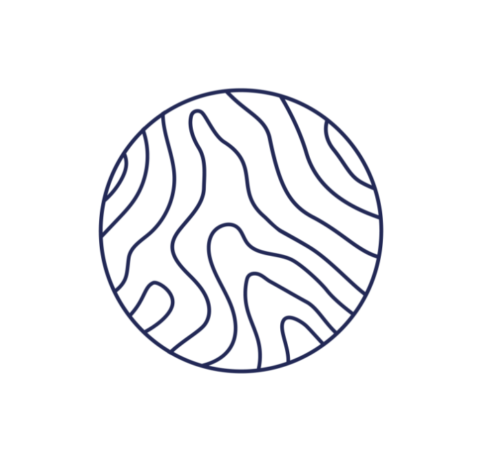 A blue and white woodgrain logo for Lucas Williams Carpentry