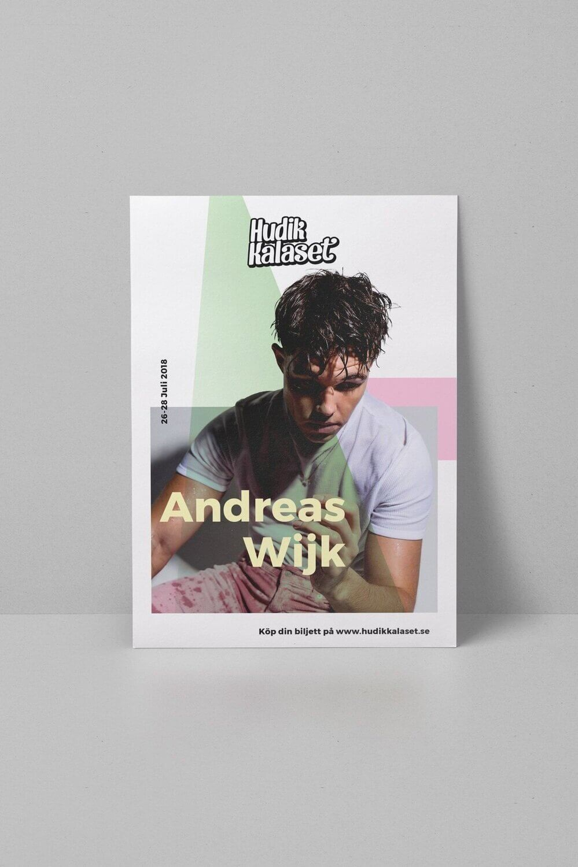 Design poster of Andreas Wijk.