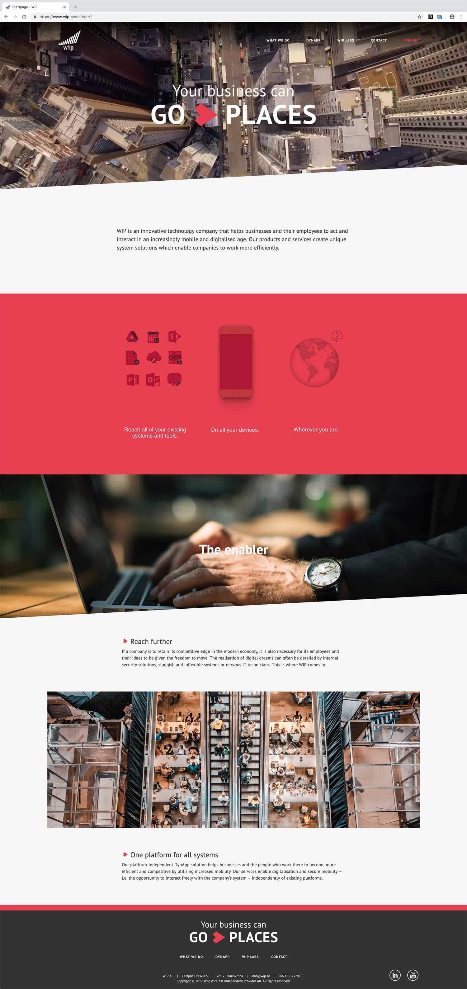 WIP's website