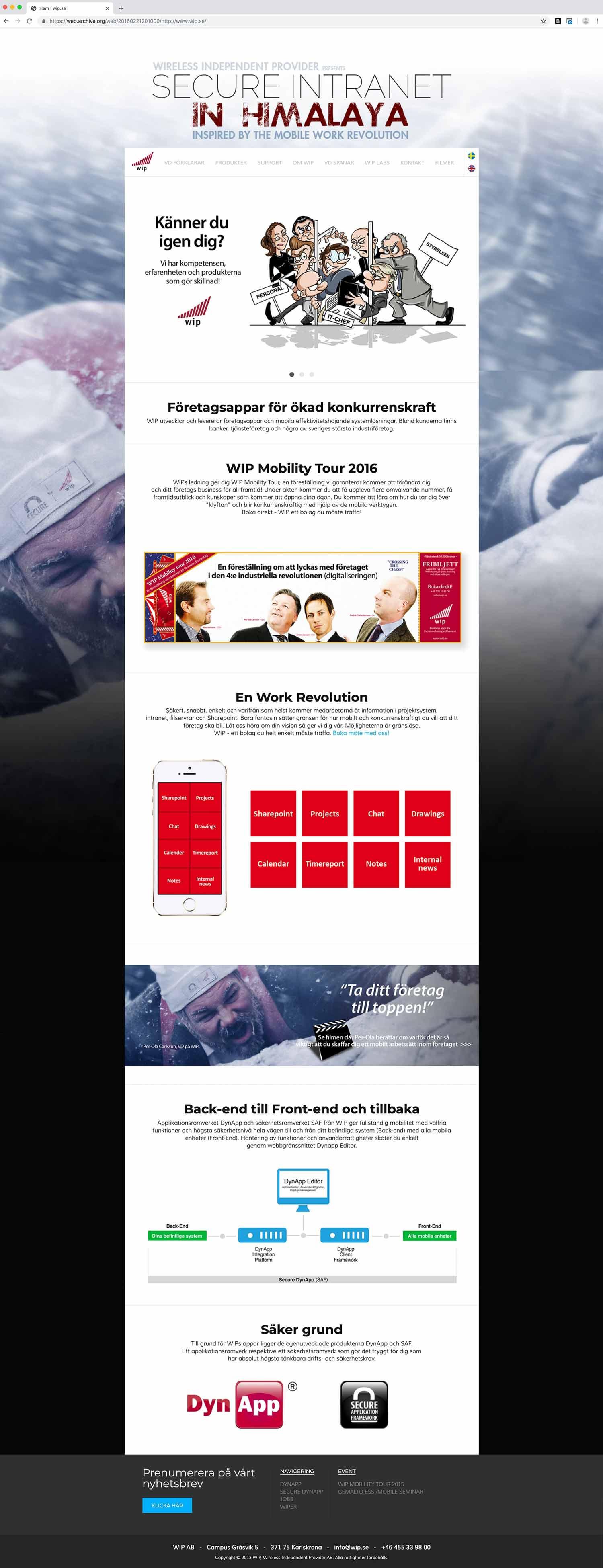 WIP's old website