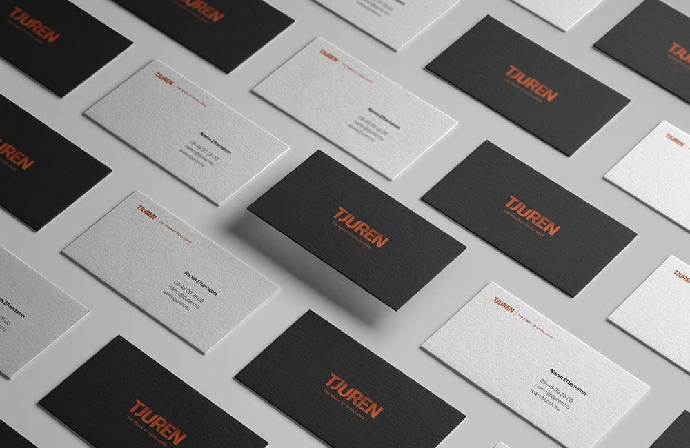 business cards on flat surface