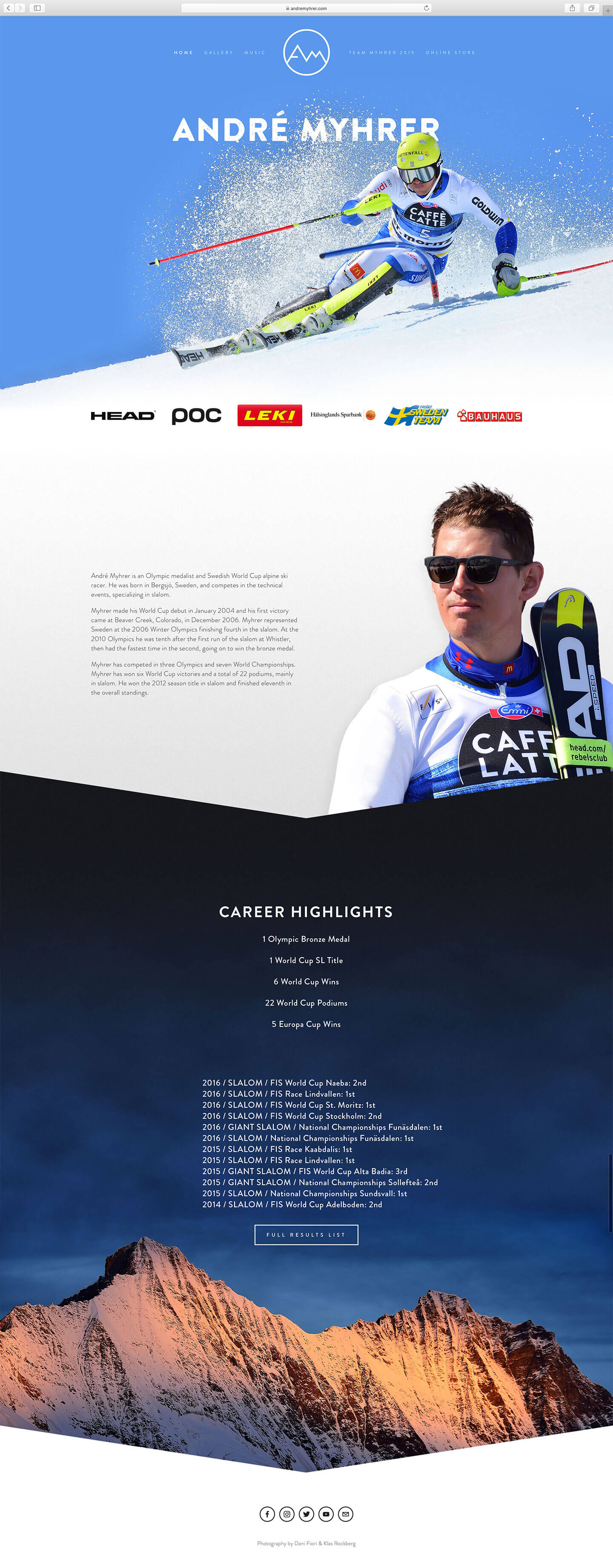 andre myhrer landing page