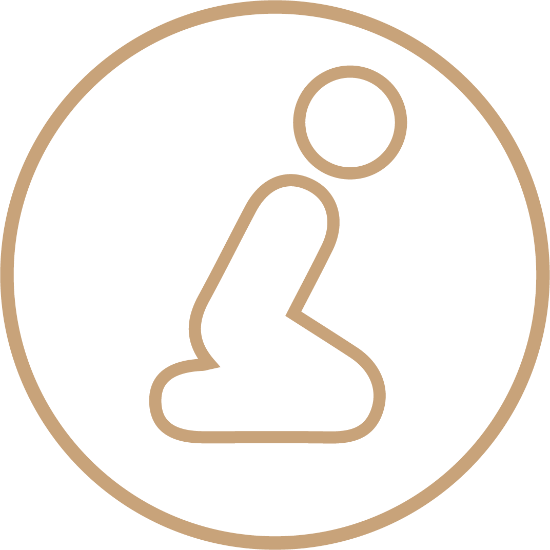 icon with praying person