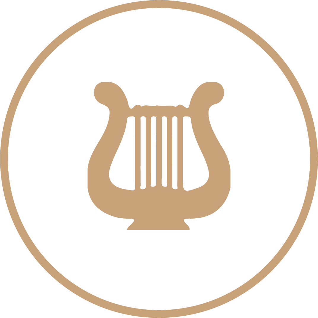 icon with harp in the middle