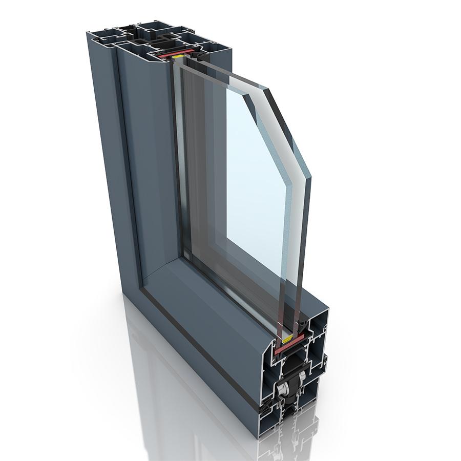 Front profile of New Panorama, an aluminium sliding door.