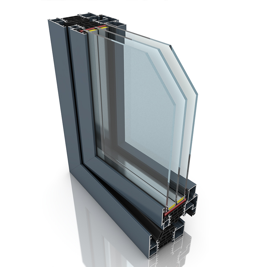 Front profile of Superial, an aluminium window and/or door.
