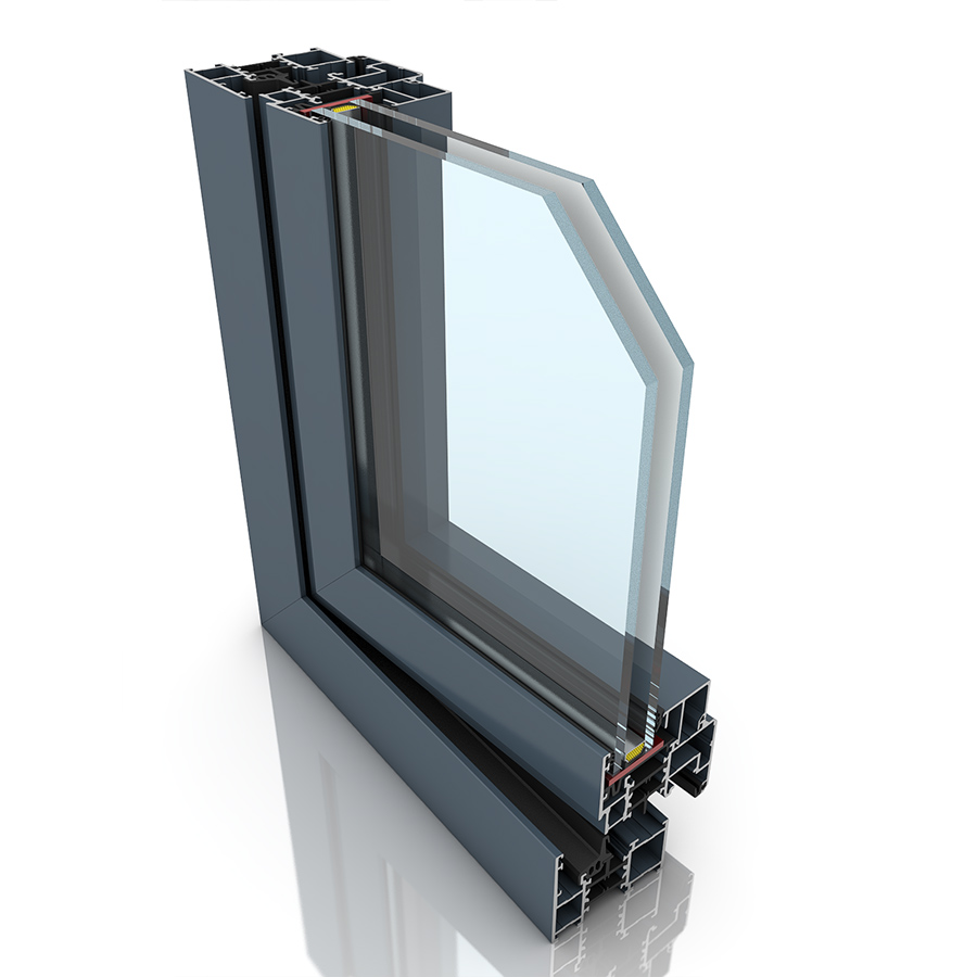 Front profile of Imperial, an aluminium window and/or door.
