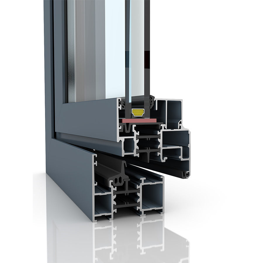 Image showing the inner structure of Imperial, an aluminium window and/or door.