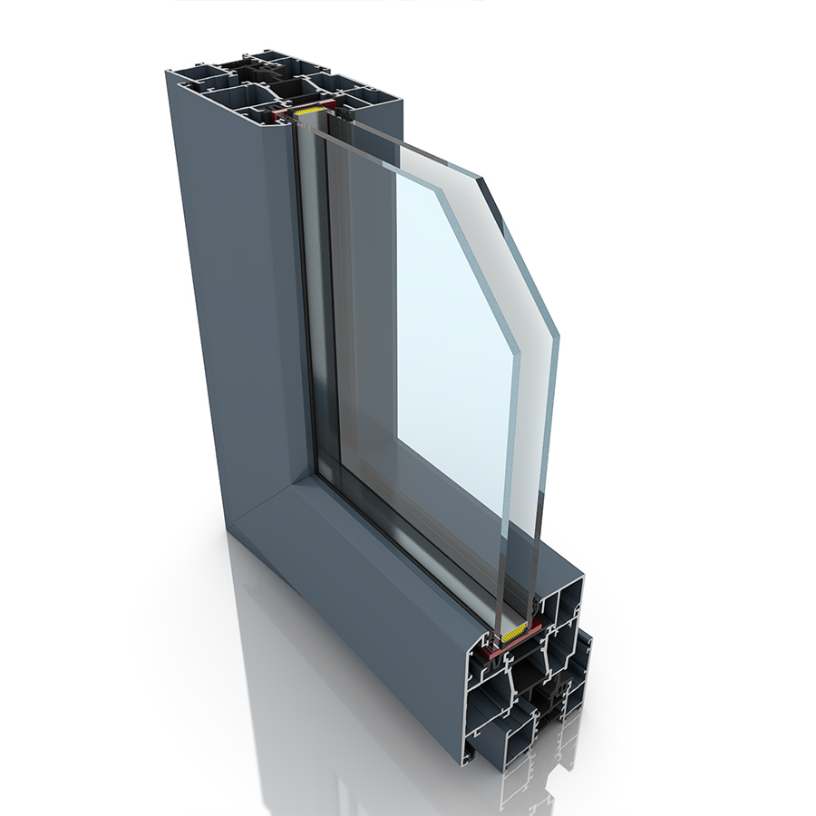Front profile of Imperial Casement, an aluminium window and/or door.