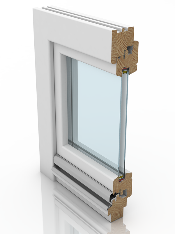Front profile of IV 68, a wood window.