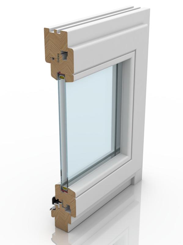 Back profile of IV 68, a wood window.