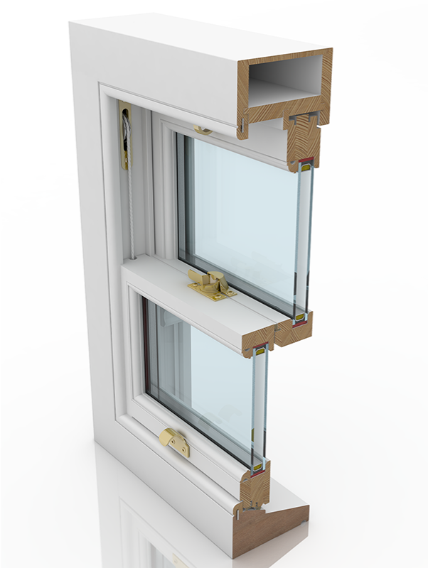 Front profile of Sash Standard Plus Ogee & Staff Bead SBD, a wood window.