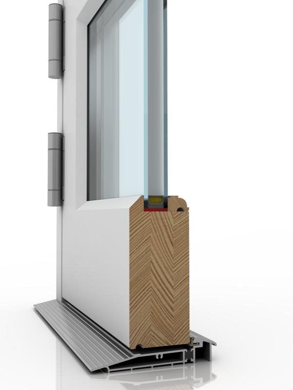 Image showing the inner structure of French Door 5, a wood door.