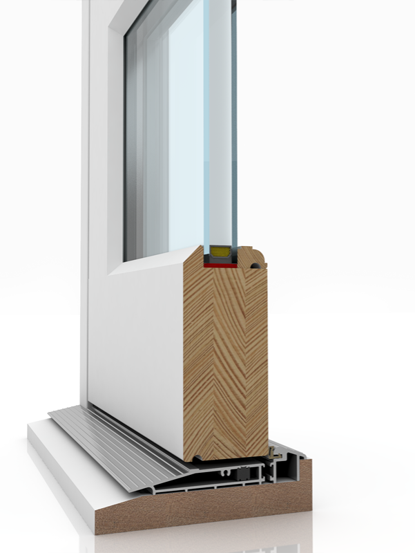 Image showing the inner structure of French Door 5 & SUBCIL, a wood door.