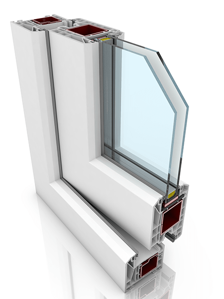 Front profile of KBE 70AD WER1, a uPVC door.