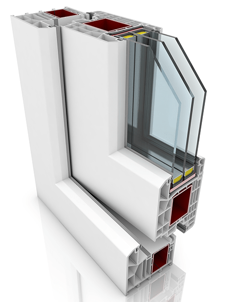 Front profile of KBE 88AD WER2, a uPVC door.
