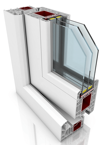 Front profile of KBE 88AD WER3, a uPVC door.