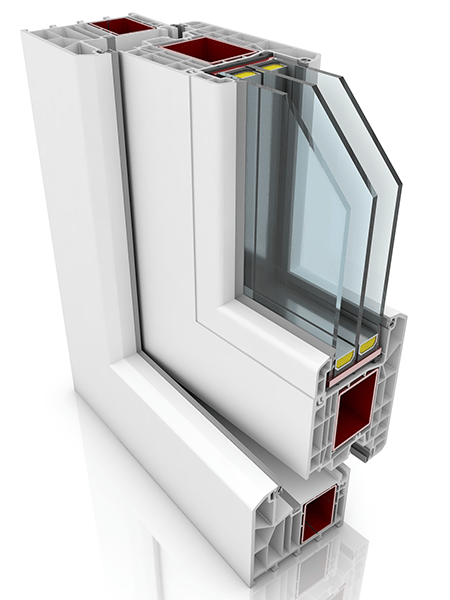 Front profile of KBE 88AD WER4, a uPVC door.