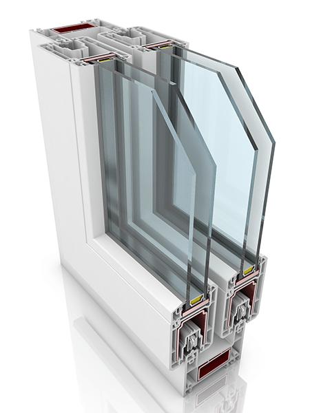 Front profile of Sliding Door PREMILINE, a uPVC door.