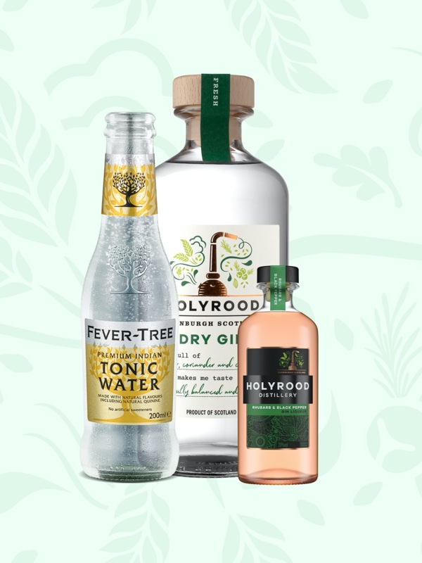 Holyrood Distillery gin and tonic from Fever Tree