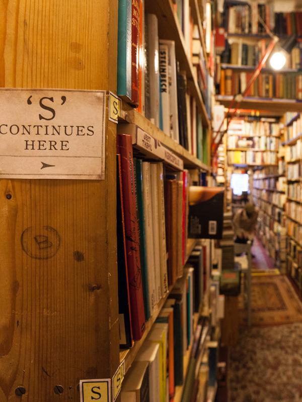 Bookshelves in Armchair Books