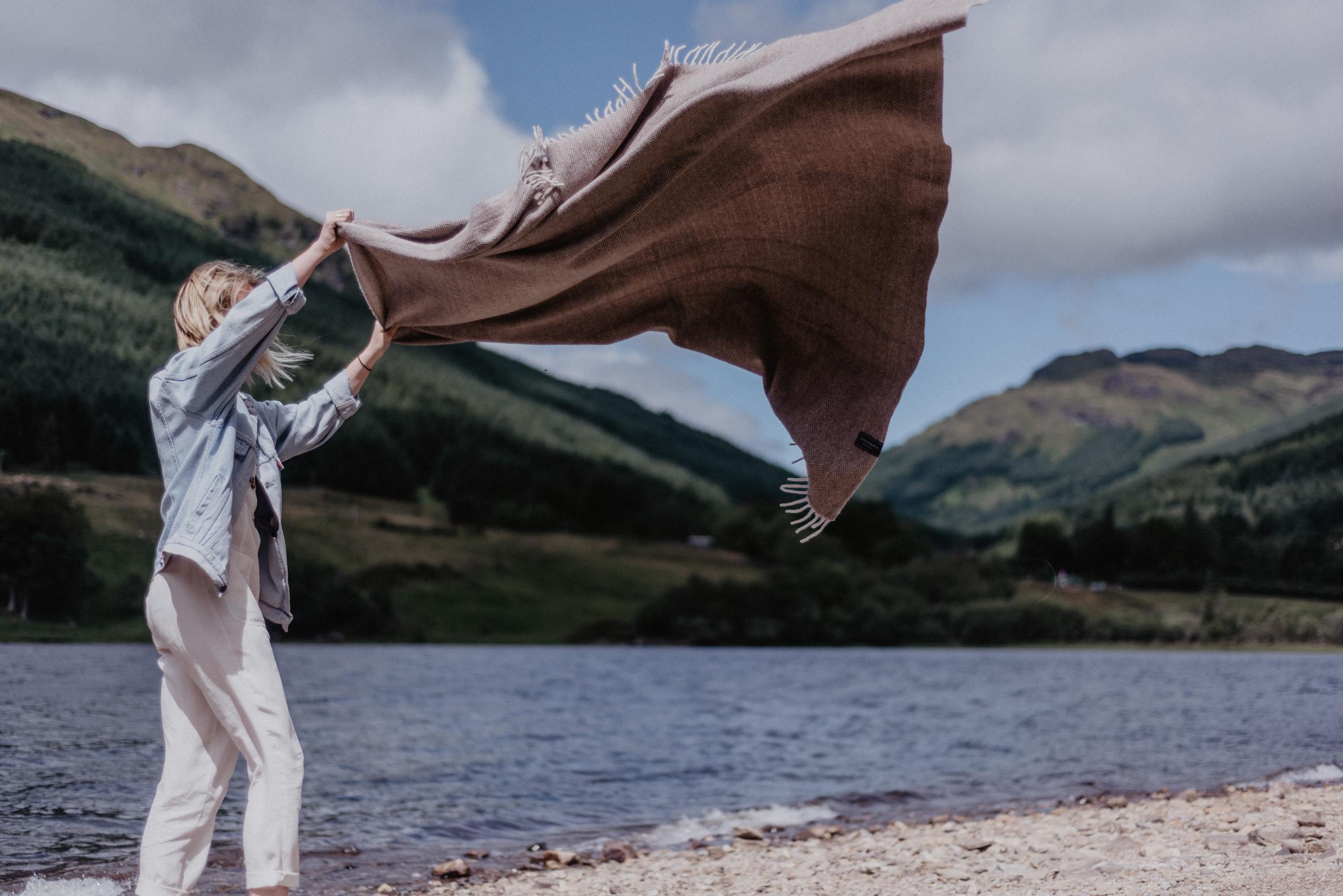 The Tartan Blanket co outdoors