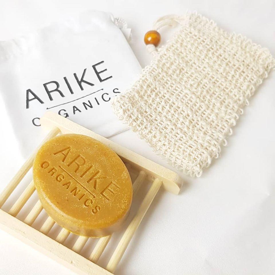 Organic soap and wash bag from Edinburgh black owned business Arike