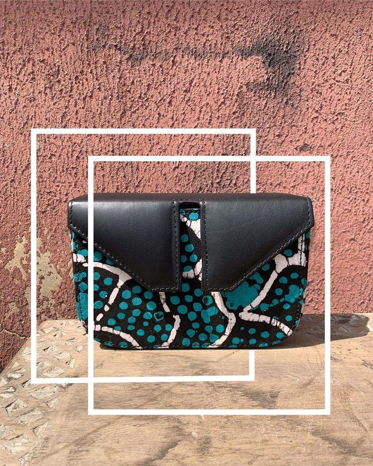 Black and green handbag from Edinburgh's LeyeLesi