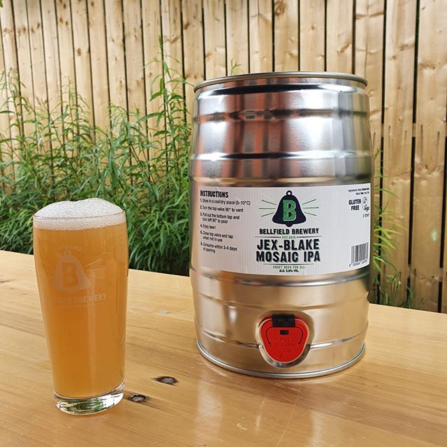 5L keg and a freshly poured pint