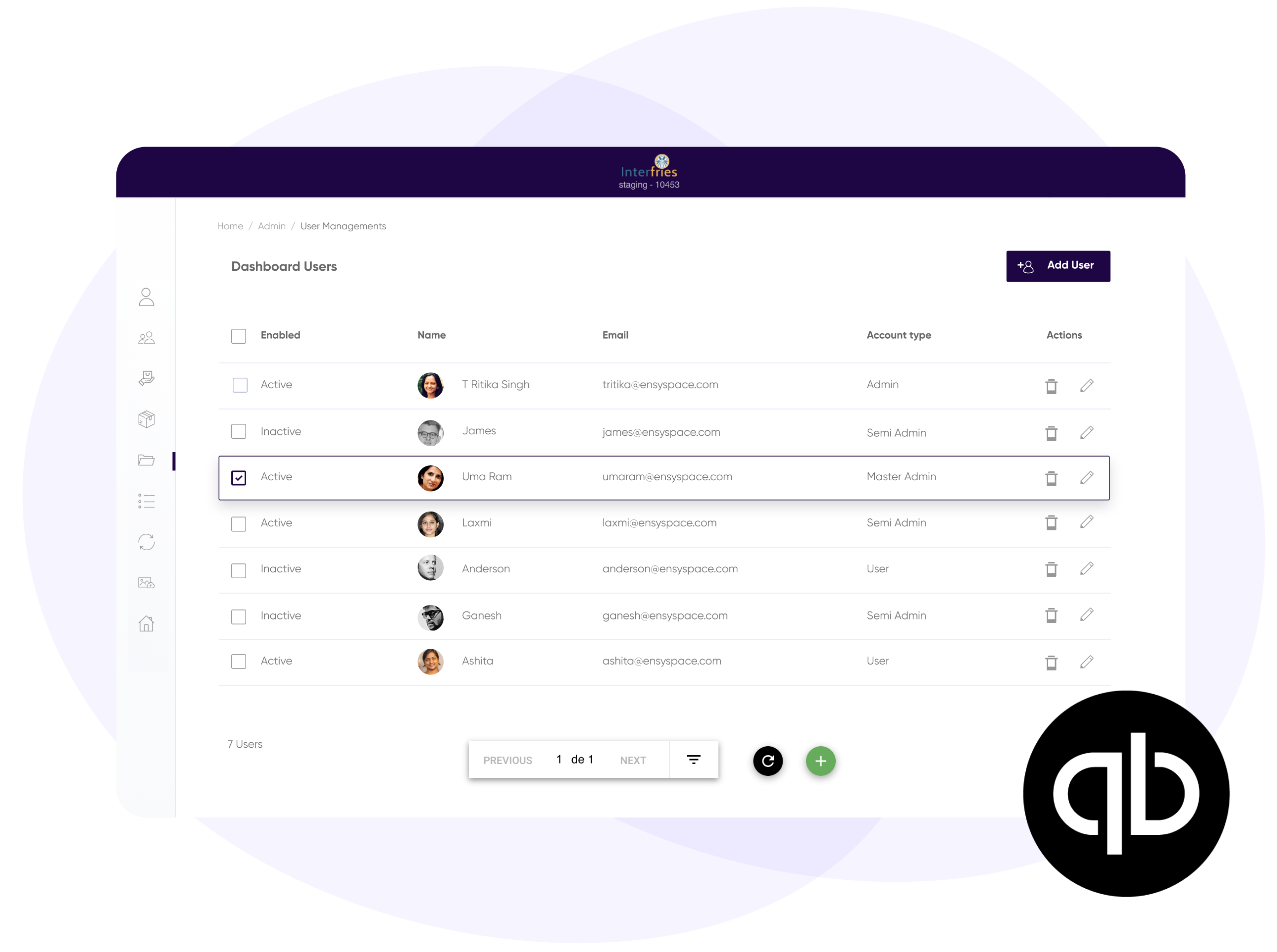 Beautiful back office portal where you can easy manage all your Quickbooks information and get all synced with the store