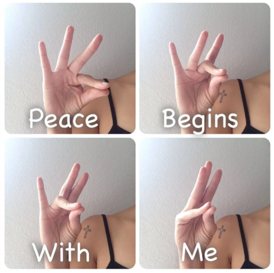 Peace begins with me image
