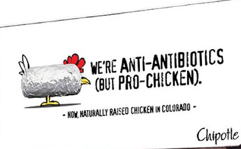 Chipotle: pro-chicken... except for the part about killing millions of them every year.