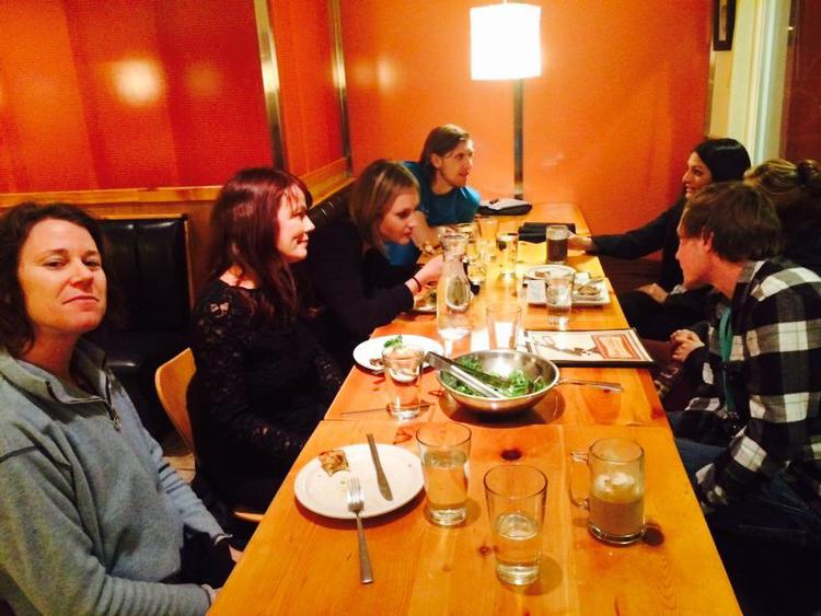 Post action activist dinner with some awesome people.