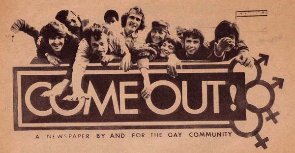 Come Out!, a newspaper by and for the gay community
