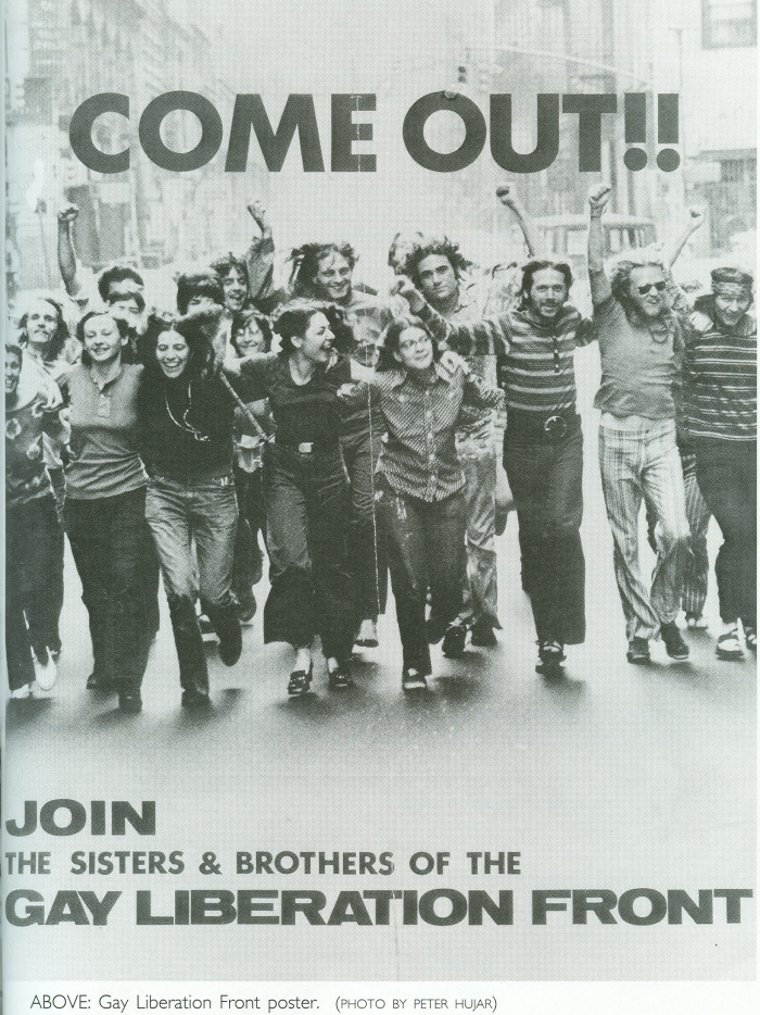 A poster from the Gay Liberation Front urging people to