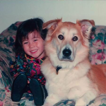 Young Hana with Maia