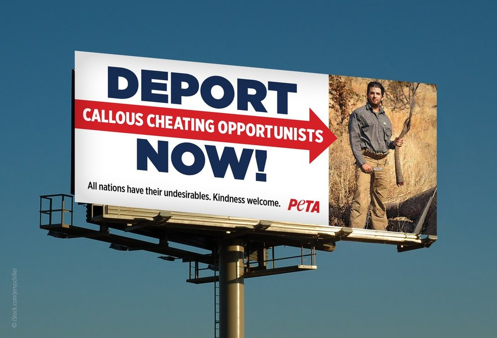 Billboard PETA hopes to put up in El Paso and elsewhere.