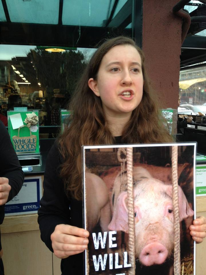 Almira now speaks out for pigs and other animals.
