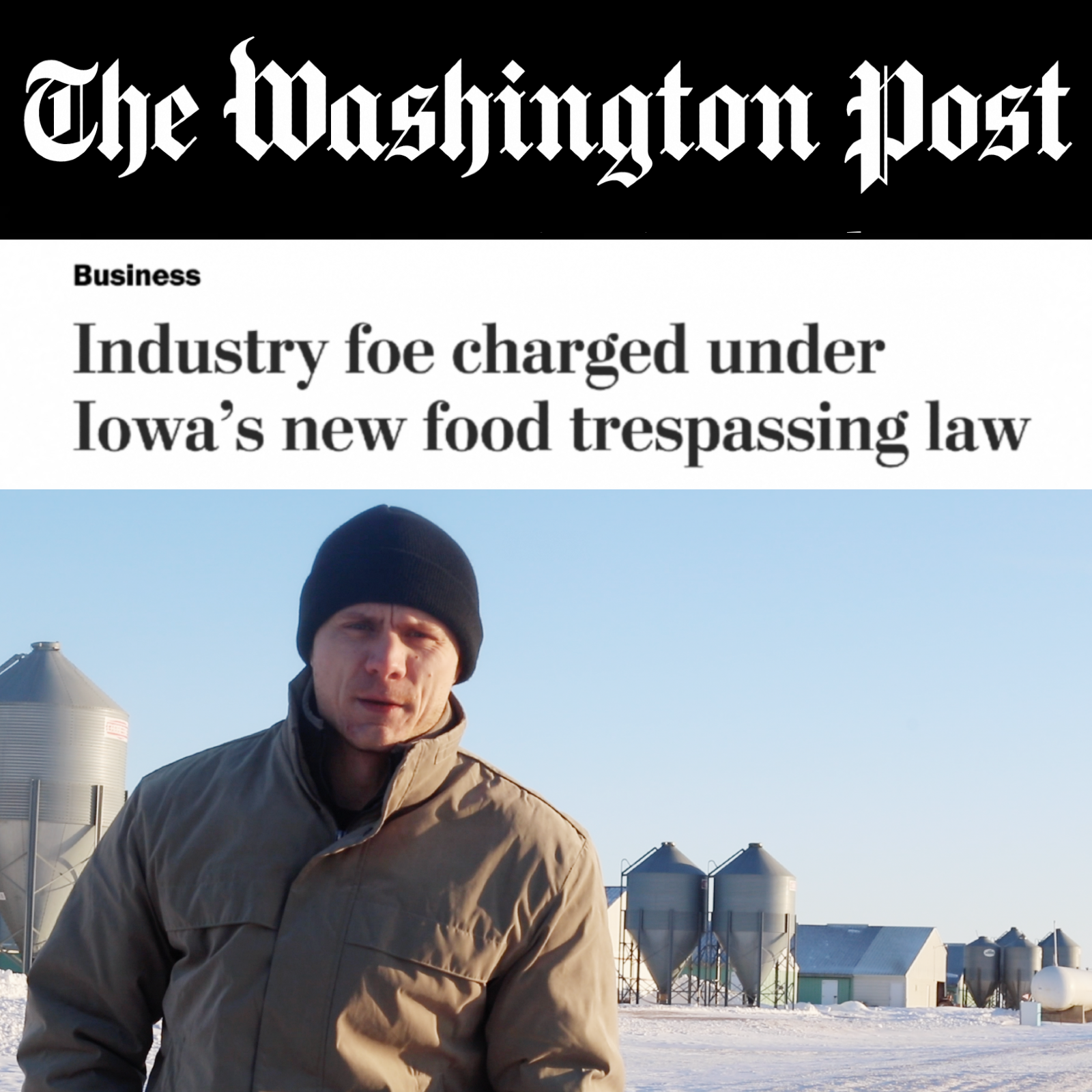 """Ag gag"" charge filed"