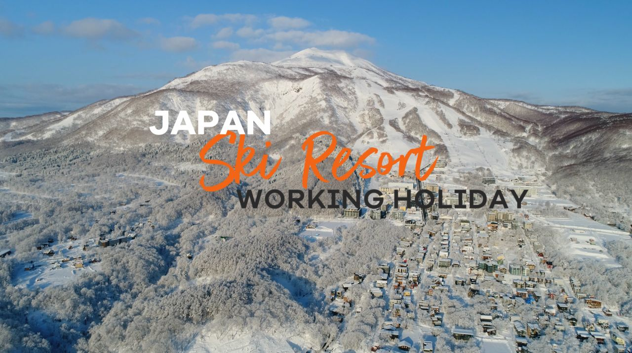 Aerial view of Niseko ski resort.