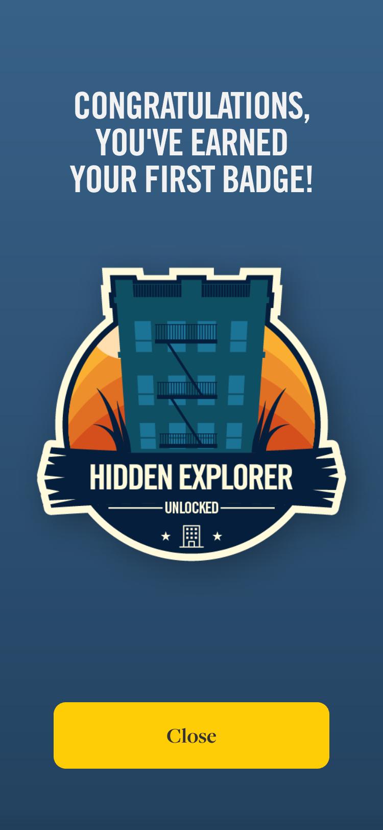 Hidden History badge award