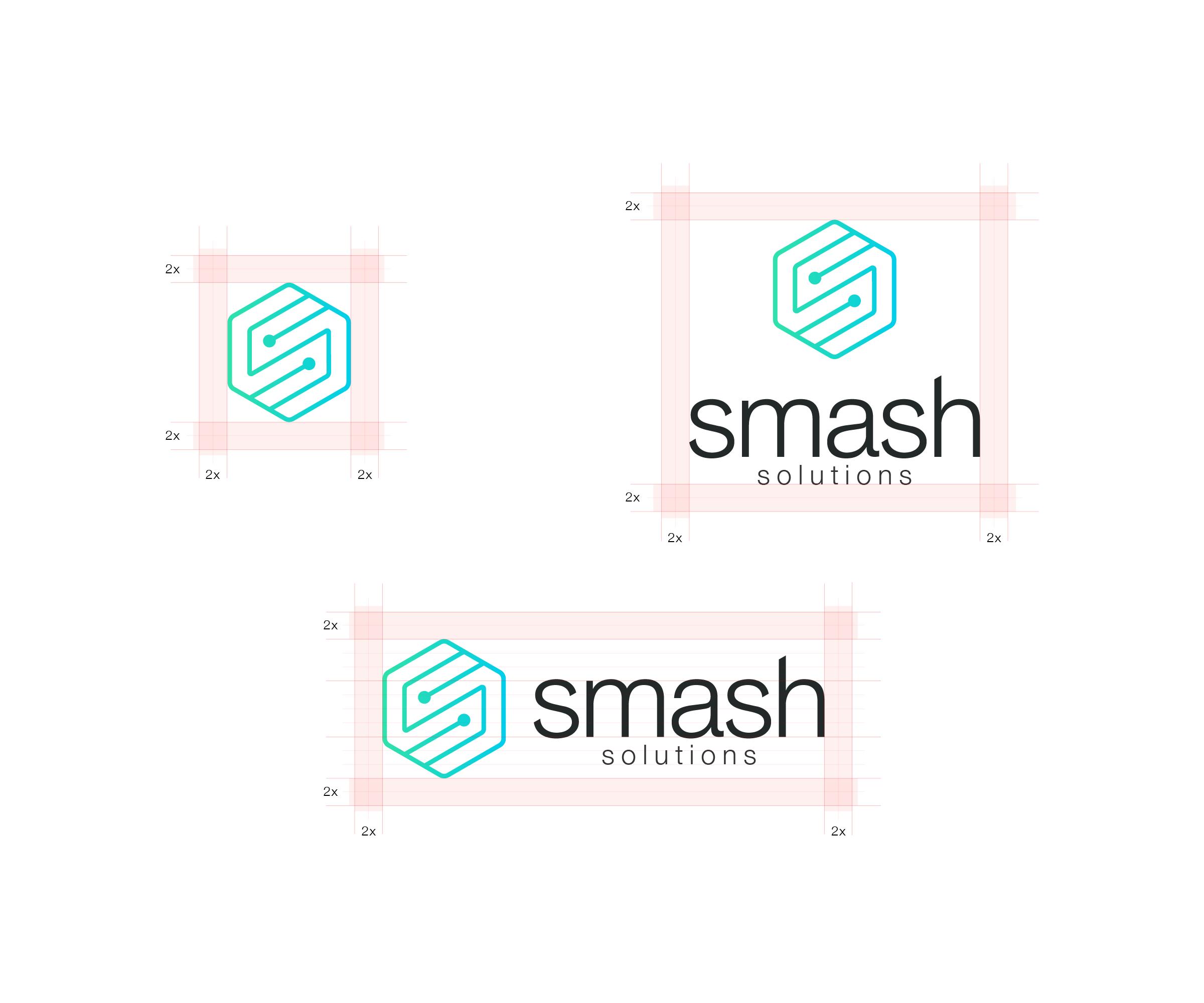 Smash logo variations