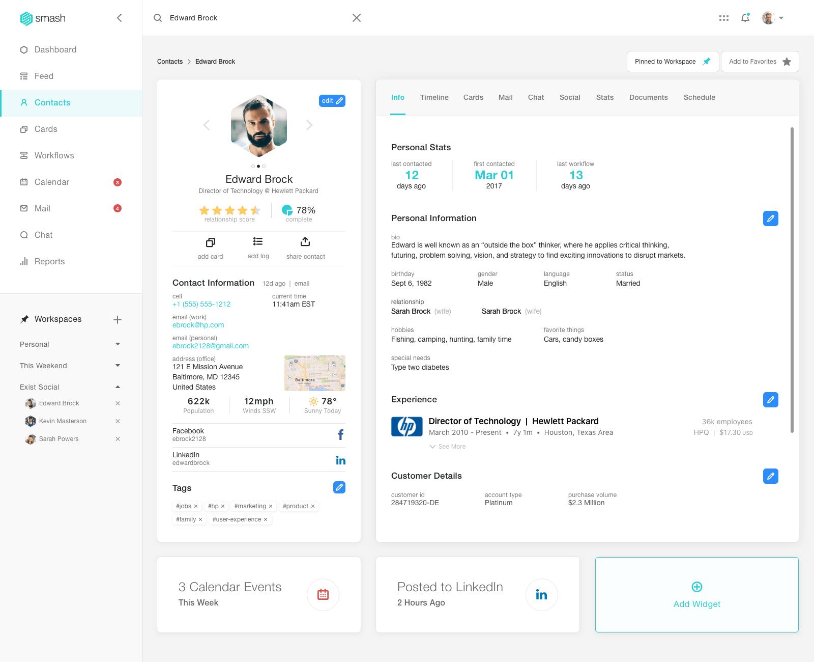 Smash desktop interface