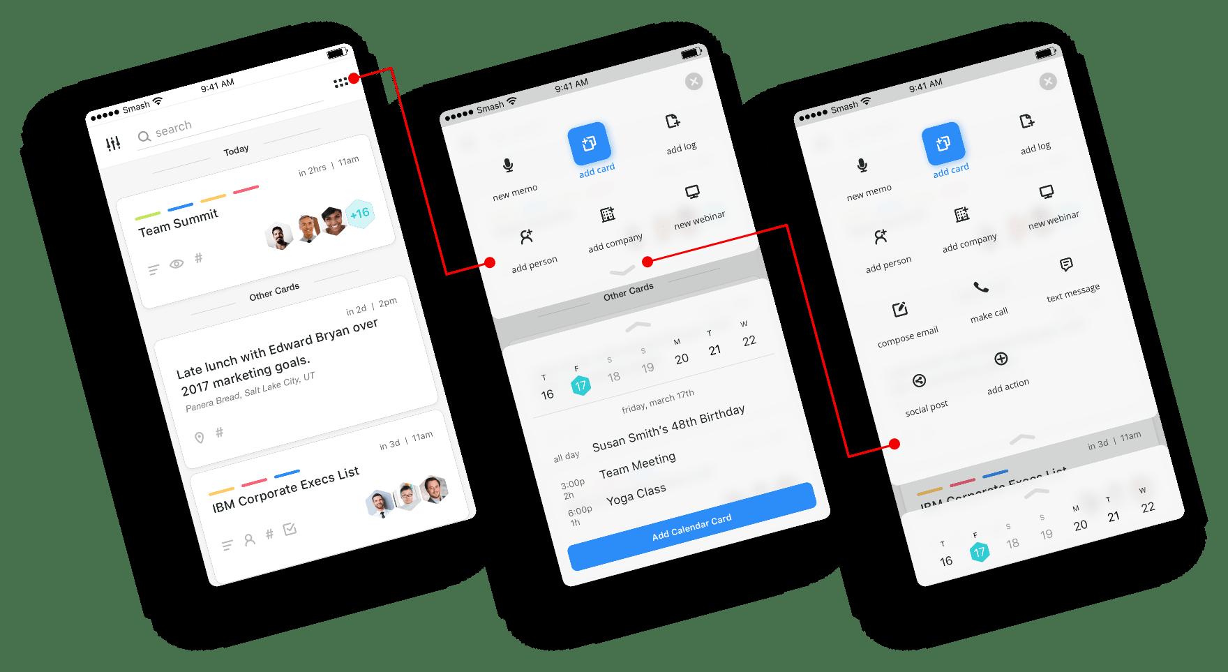 Smash mobile walkthrough of smash bar menu